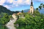Остров на озере Блед (Bled), Словения